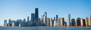 Chicago City Skyline in the Morning