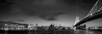 Philadelphia Skyline Benjamin Franklin Bridge