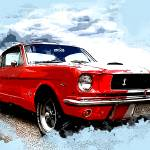 """Red Ford Mustang"" by ElainePlesser"