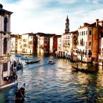 """Gondola Traffic in Venice"" by ElainePlesser"