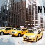 """NYC Taxi Fleet TRAVEL POSTER NYC"" by ElainePlesser"