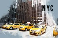 NYC Taxi Fleet TRAVEL POSTER NYC