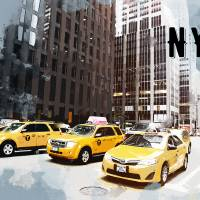 NYC Taxi Fleet TRAVEL POSTER NYC Art Prints & Posters by Elaine Plesser