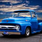 """1956 Ford F100 Blu Pickup"" by FatKatPhotography"