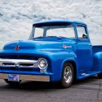 """1956 Ford F100 Blu Pickup I_HDRa"" by FatKatPhotography"