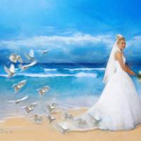 Making of the Bride's Dress Art Prints & Posters by Janet David