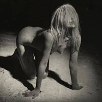 Photograph Nude Woman Covered With Dust