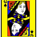 """""""QUEEN OF SPADES (LARGE)-2"""" by thegriffinpassant"""