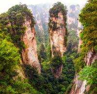 into the peaks of zhangjiajie