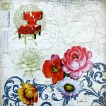 """Flower Collage Art"" by Aneri"