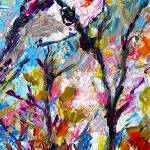 """Impressionist Rose Breasted Grosbeak"" by GinetteCallaway"