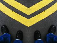 Two Yellow Curved Lines and 4-Boots