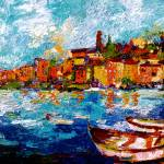 """Oil-Impressionist_Portovenere"" by GinetteCallaway"