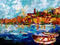 Impressionist Italian Travel Oil Painting