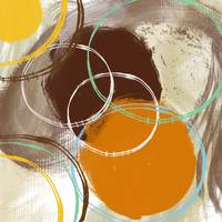 ORL-786 ORANGE-BROWN CIRCLES III