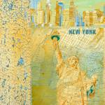 """""""ORL-2604 New York Vintage Map"""" by Aneri"""