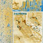 """""""ORL-2605-1 California vintage map"""" by Aneri"""