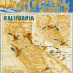 """""""ORL-2605-4 California vintage map II"""" by Aneri"""