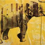 """ORL-3064-2 Yellow Elephant"" by Aneri"