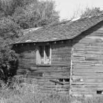 """""""2014-05-07 B&W Abandoned Barn Falling to Ruin"""" by rhamm"""