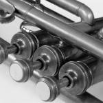 """Vintage Brass Trumpet Valves and Tu"" by rhamm"