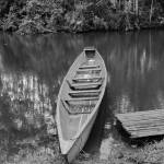 """""""2015-03-19 B&W River Boat Pulled onto Shore"""" by rhamm"""