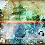 """4b Abstract Expressionism Digital Collage Art"" by Ricardos"