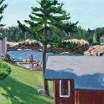 """""""Summer afternoon at Little Harbor, Maine"""" by nancygrice"""