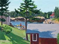 Summer afternoon at Little Harbor, Maine