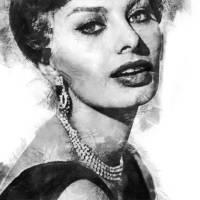 Sophia Loren Art Prints & Posters by Vel Verrept