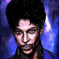Music Legend  Prince Art Prints & Posters by Andrzej Szczerski
