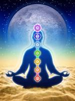 In Meditation With Chakra - Blue Moon Edition