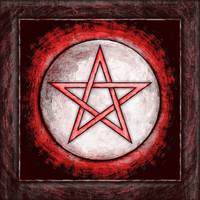 Moon Pentagram - Artwork Red