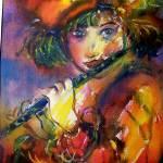 """FLUTIST PORTRAIT / Venetian Masquerade"" by BulganLumini"