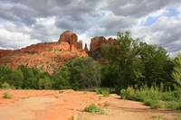 Cathedral Rock with Clouds