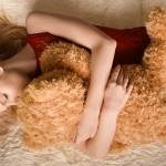 """girl with teddy bear"" by Alekcej"