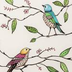 """Whimiscal Birds in the Garden"" by ElizaArt"