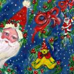 """SANTA AND CHRISTMAS NIGHT"" by BulganLumini"