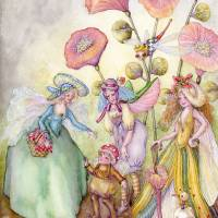 fairy hats Art Prints & Posters by Laurel Nelson