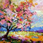 """Impressionist Spring Pink Blossom Tree"" by GinetteCallaway"
