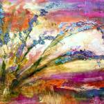 """Expressive Floral Landscape Oil Painting"" by GinetteCallaway"