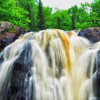 Little Manitou Falls by Lisa Rich