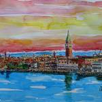 """AQ_Fabulous_Venice_Italy_with_Snowcovered_Alps"" by arthop77"