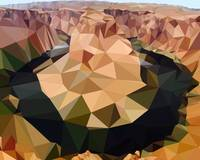 Horseshoe Bend Low-Poly Art