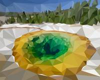 Yellowstone National Park Low-Poly Art