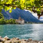 """Castle View on Lake Geneva, Chillon Castle, Switze"" by George_Oze"