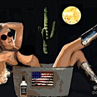Cowgirl Patriot Art Prints & Posters by Dave Gafford