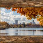 """Denver City Skyline Barn Window View"" by lightningman"