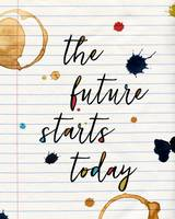 The Future Starts Today Wall Art