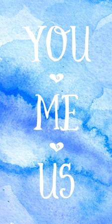 You, Me, Us Watercolor Wall Art